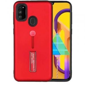 Generic Mobile Case Cover For Samsung Galaxy M30s,Samsung Galaxy M21 (Smoke Back Case,Color: Red,Material:Plastic)
