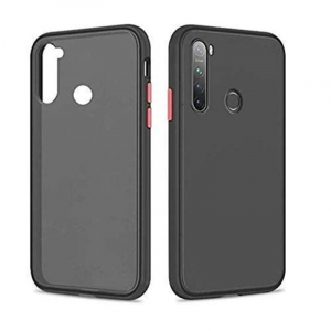 Generic Mobile Case Cover For Redmi Note-8 (Smoke Back Case,Color: Black,Material:Plastic)