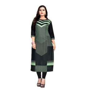Generic Women's Kurtis With Heavy Slub Cotton Casual (Color:Pista Green,Sleeve: 3/4 Sleeve)