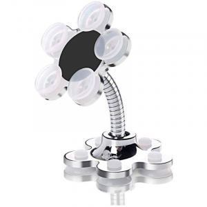 Generic Flower Shape Cellphone Holder Car And Mount Sucker Stand-White color