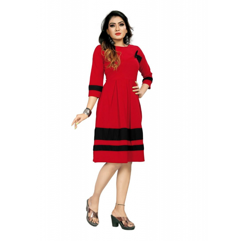 Generic Women's 95% Polyster + 5% Spendex  Short Gown (Red)