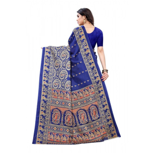Generic Women's Art Silk Saree(Blue,5-6 Mtrs)