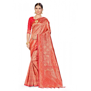 Generic Women's Banarasi Silk Saree (Pitch,5-6 Mtrs)