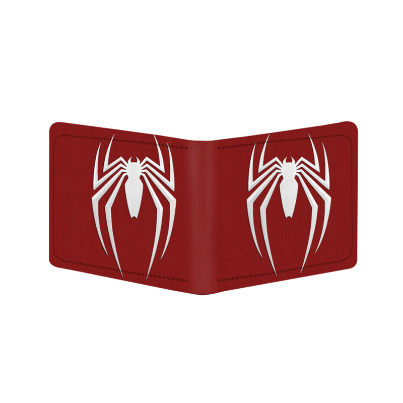 Generic Spider Man Design Red Canvas, Artificial Leather Wallet