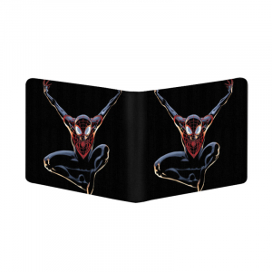 Generic Spider Man Design Black Canvas, Artificial Leather Wallet