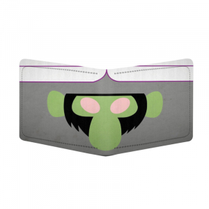 Generic Monkey Superhero Design Grey Canvas, Artificial Leather Wallet
