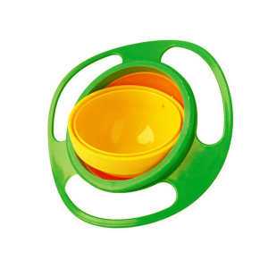 Generic Pack of 2_Non Spill Feeding Toddler Gyro Bowl 360 Degree Rotating Dish (Color: Assorted)