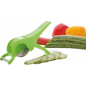 Generic Pack of 3_Vegetable Cutter with Peeler (Color: Assorted)
