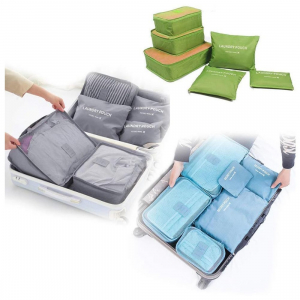 Generic 6 Pcs Set Of Cloth Organizer Pouch Laundry Zipper Bags (Color: Assorted)